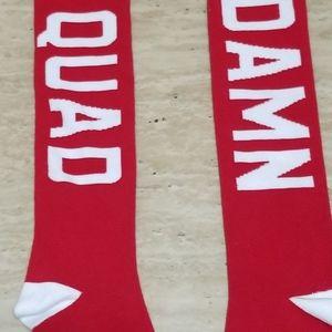 """Livesore """"Quad Damn"""" Knee High Socks"""